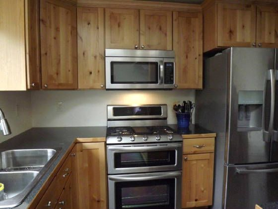 Kitchen Cabinets Knotty Alder with a Natural Finish