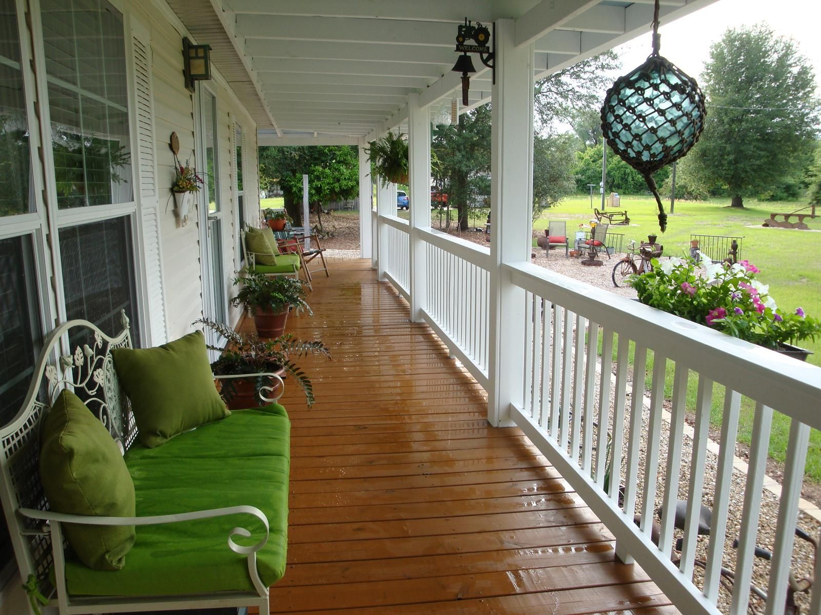 Prefabricated Porches dreamy double wide | interiors, porch and front porches