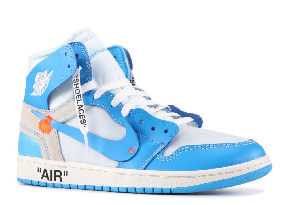 Off White X Air Jordan 1 Retro High Og Unc Air Jordan Aq0818 148 White Dark Powder Blue Cone Blue Jordans Air Jordans Off White Shoes