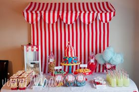 Photo of decorations to print for circus party