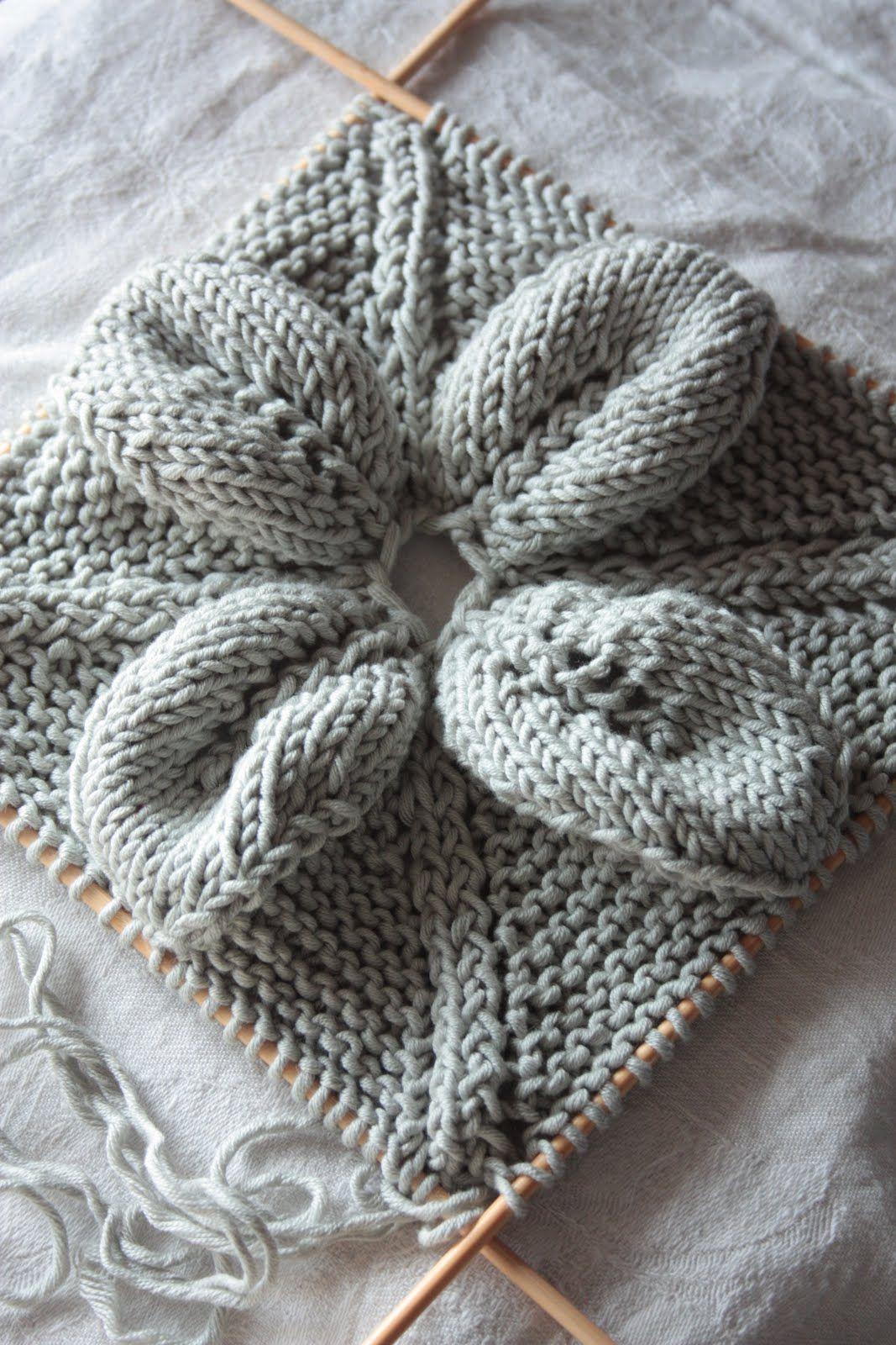 Inspiración Costura: Punto de hojas y encaje cuadrados | Dos agujas ...