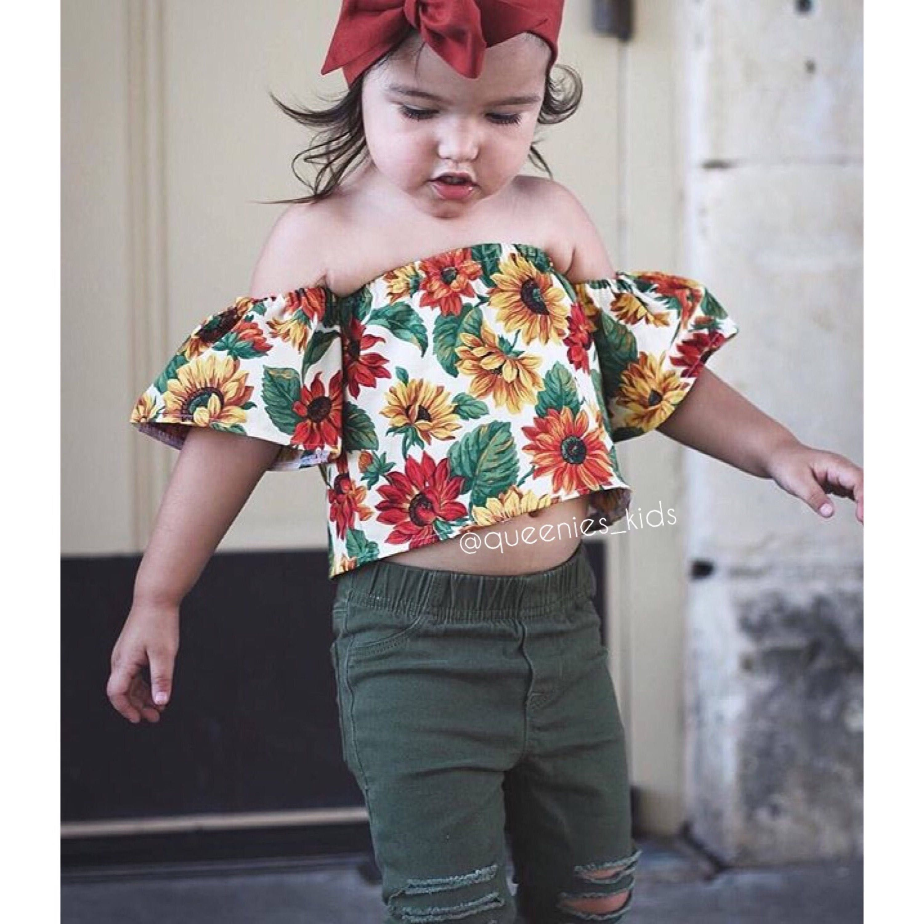 4d9bdfab97b8ba Baby Girl Crop Top