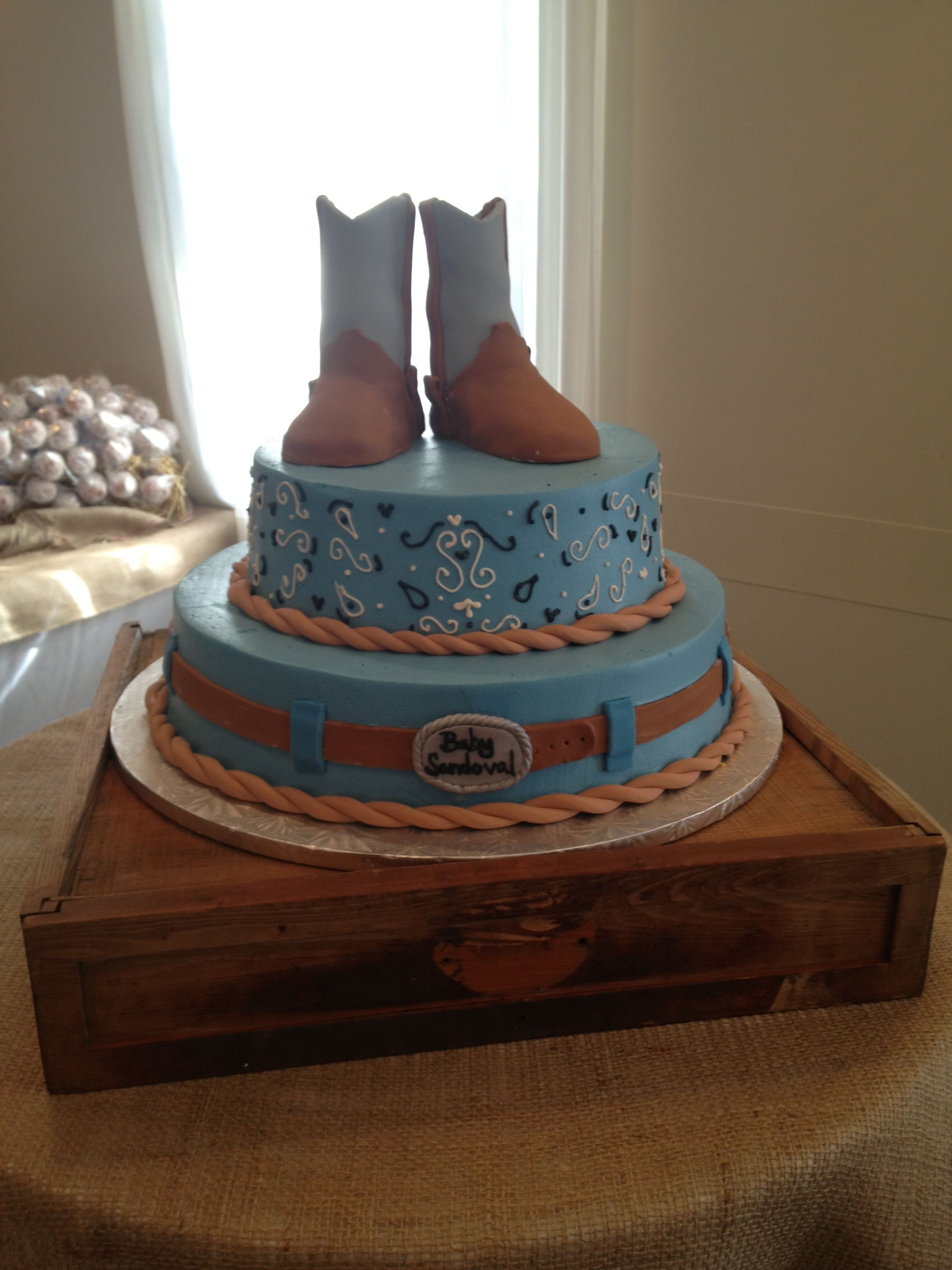 Cowboy Baby Shower Cake From Cakes For Occasions In Danvers Mass