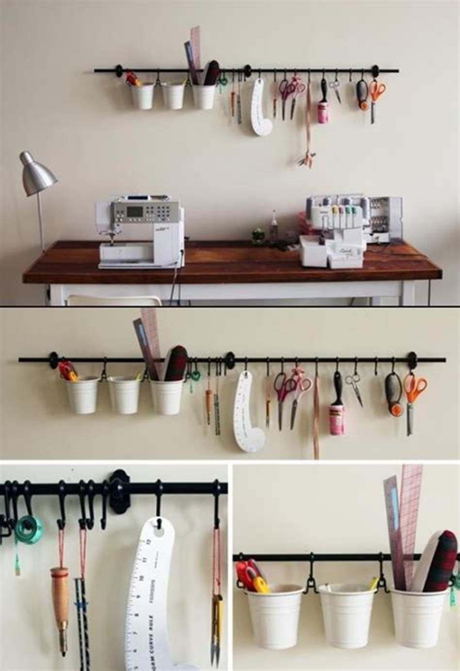 35 Best Sewing and Craft Room Designs with IKEA Products 2019 images