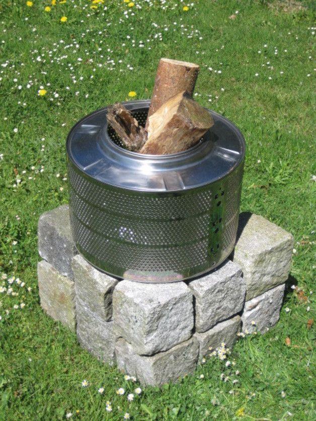 feuerkorb & grill waschmaschinentrommel | garten | pinterest, Gartenarbeit ideen