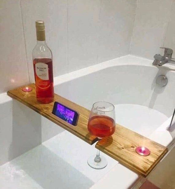 Bathtub Shelf Accessory Holder: Hand Crafted Wooden Design for Your Wine Glass , Cell Phone, Etc -  Bathtub Shelf Accessory Holder: Hand Crafted Wooden Design for Your Wine Glass , Cell Phone, Etc Ba - #Accessory #bathtub #Cell #crafted #design #EasyWoodworkingProjects #glass #hand #holder #phone #shelf #TableSaw #ToolStorage #Wine #wooden #WoodworkingJigs #WoodworkingPlans #WoodworkingProjects #WoodworkingShop #WoodworkingTools