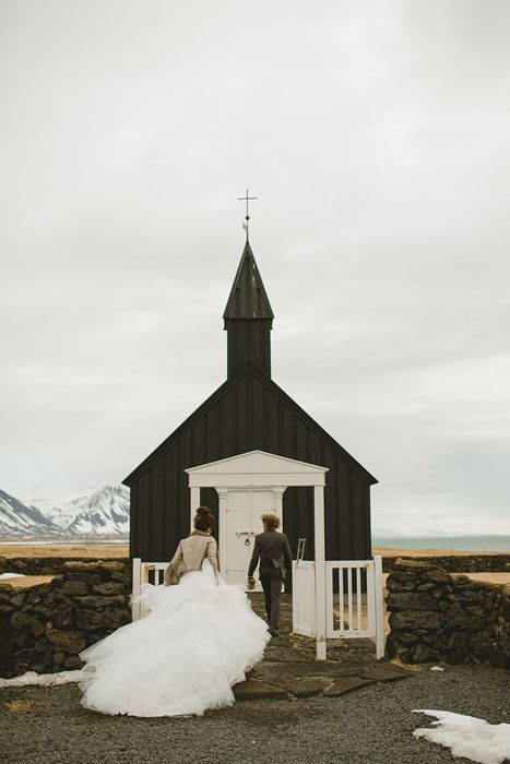A Destination Wedding Venue For The Who Loves Winter Budir Church Iceland Small Hamlet On Westernmost Tip Of Snaefellsnes Peninsula