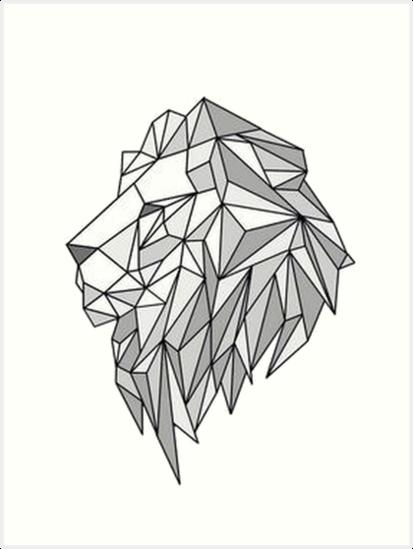 Resultado De Imagen De Geometric Lion Geometric Drawing Geometric Animals Geometric Lion