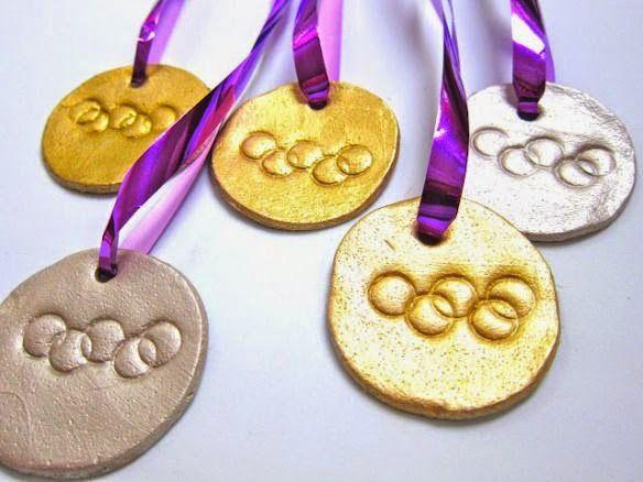 Receta De La Pasta De Sal E Inspiracion Medallas Para Ninos Masa De Sal Medallas Olimpicas