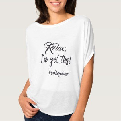 Trendy Wedding Planner Fun Shirt bride gifts bridal ideas unique