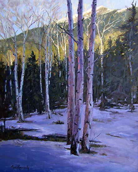 Day's Farewell by Nancy Romanovsky Oil ~ 30 x 24