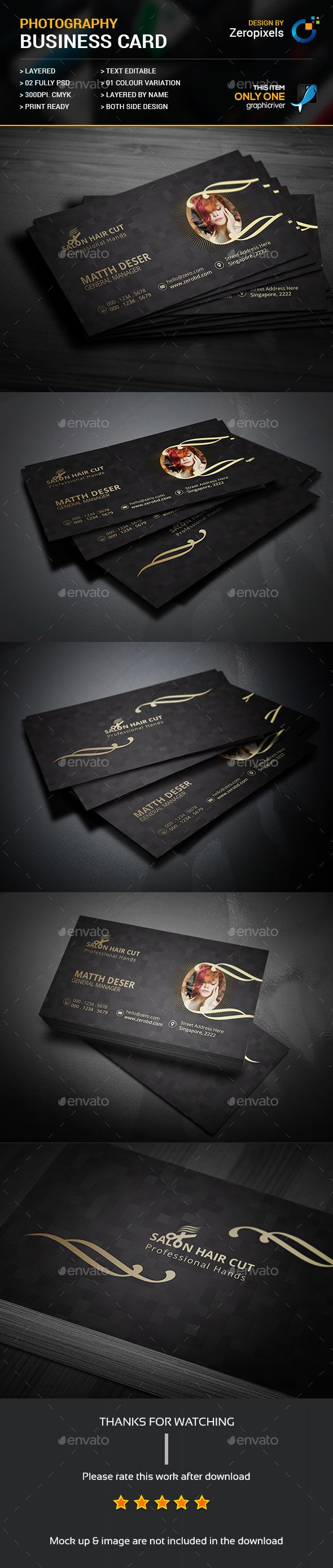 Gold Hair Salon Business Card Business Cards Print Templates