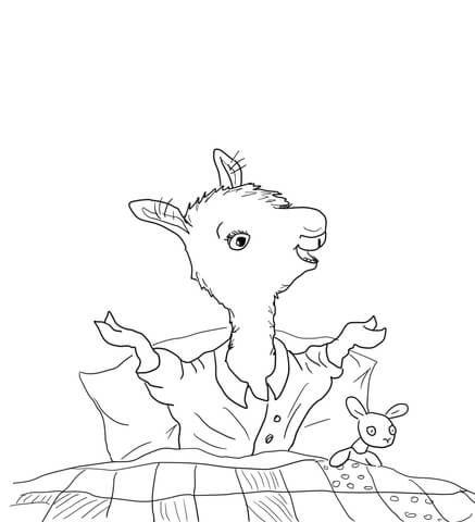 Llama Llama Home with Mama Coloring page | Llama llama red pajama ...