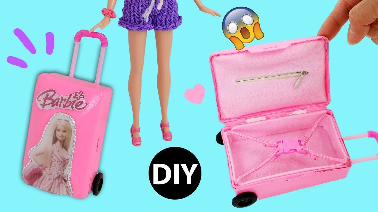 Diy Mini Suitcase For Doll Dollhouse Accessories Miniature Barbie