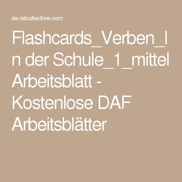 flashcards verben in der schule 1 mittel languages to learn german learn german deutsch. Black Bedroom Furniture Sets. Home Design Ideas