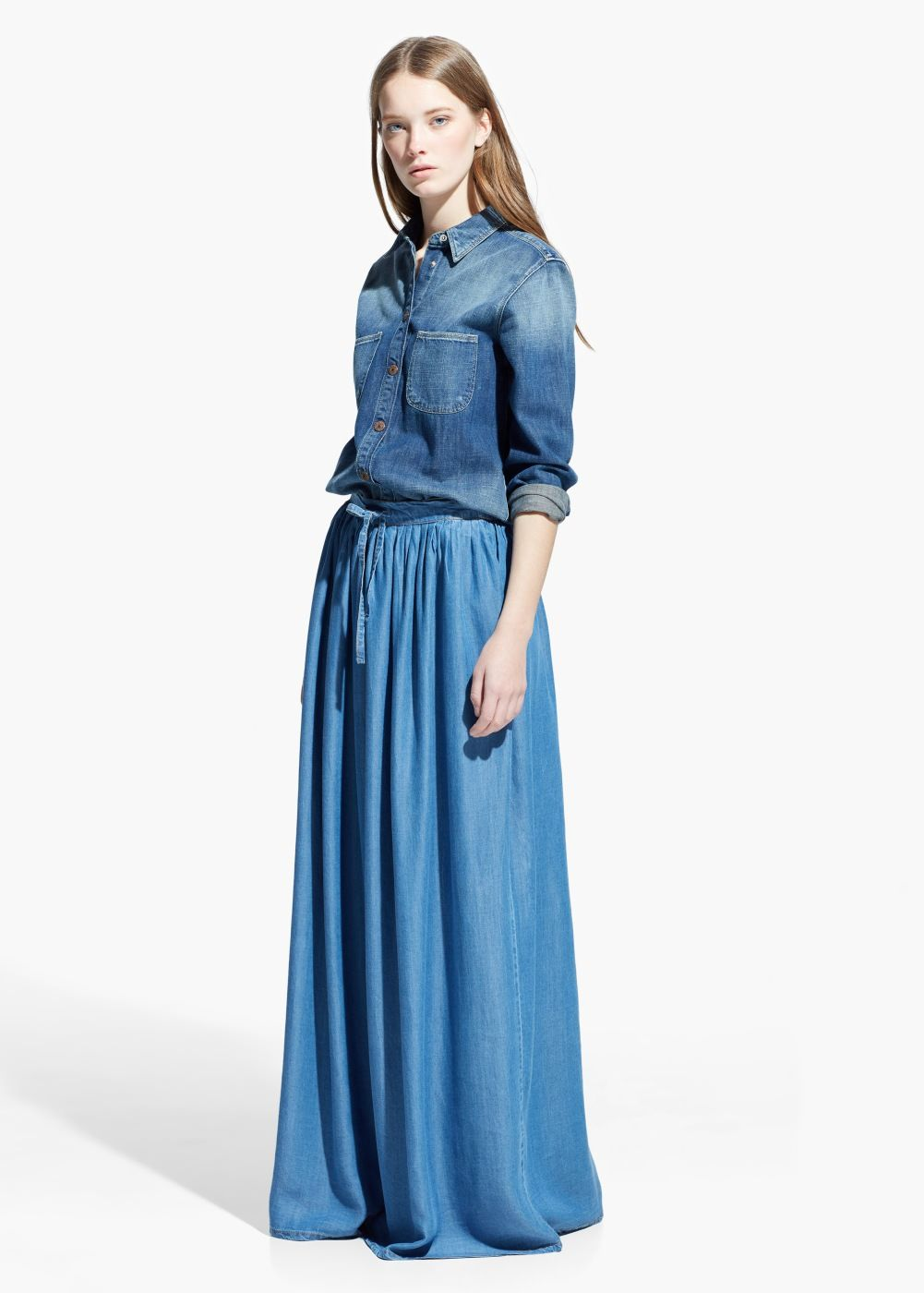 Long Denim Dresses And Skirts - Dress Ala