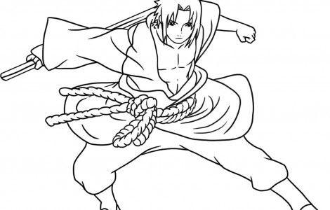 Naruto MOST Colouring Pages   Sasuke drawing, Cartoon ...