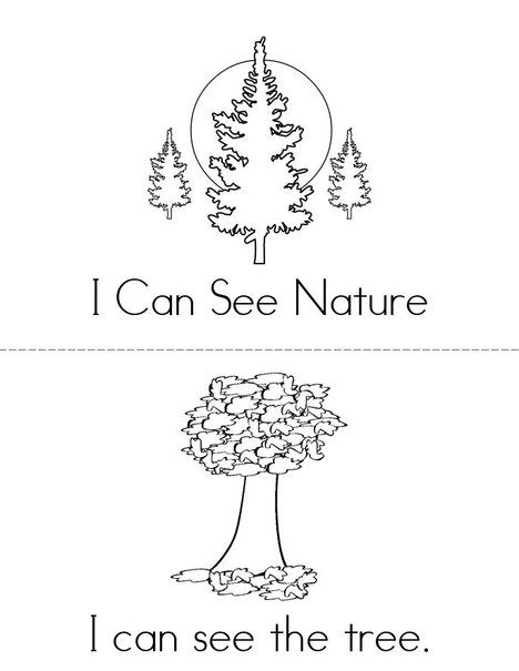 i can see nature mini book from autumn coloring pages worksheets and mini. Black Bedroom Furniture Sets. Home Design Ideas