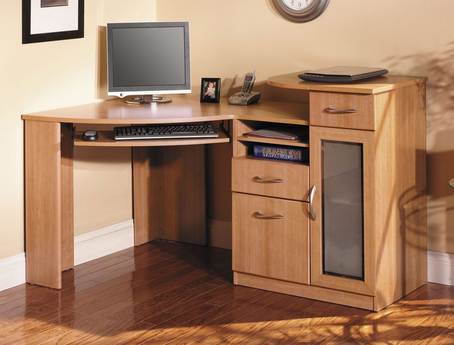 Bon Solid Wood Corner Desk Home Office   Expensive Home Office Furniture Check  More At Http: