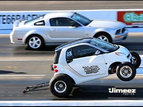 This Smart Car Totally Smoked This Mustang Off The Line And We Still Can T Believe It Rare Smart Car Mustang Gt Ford Mustang Classic