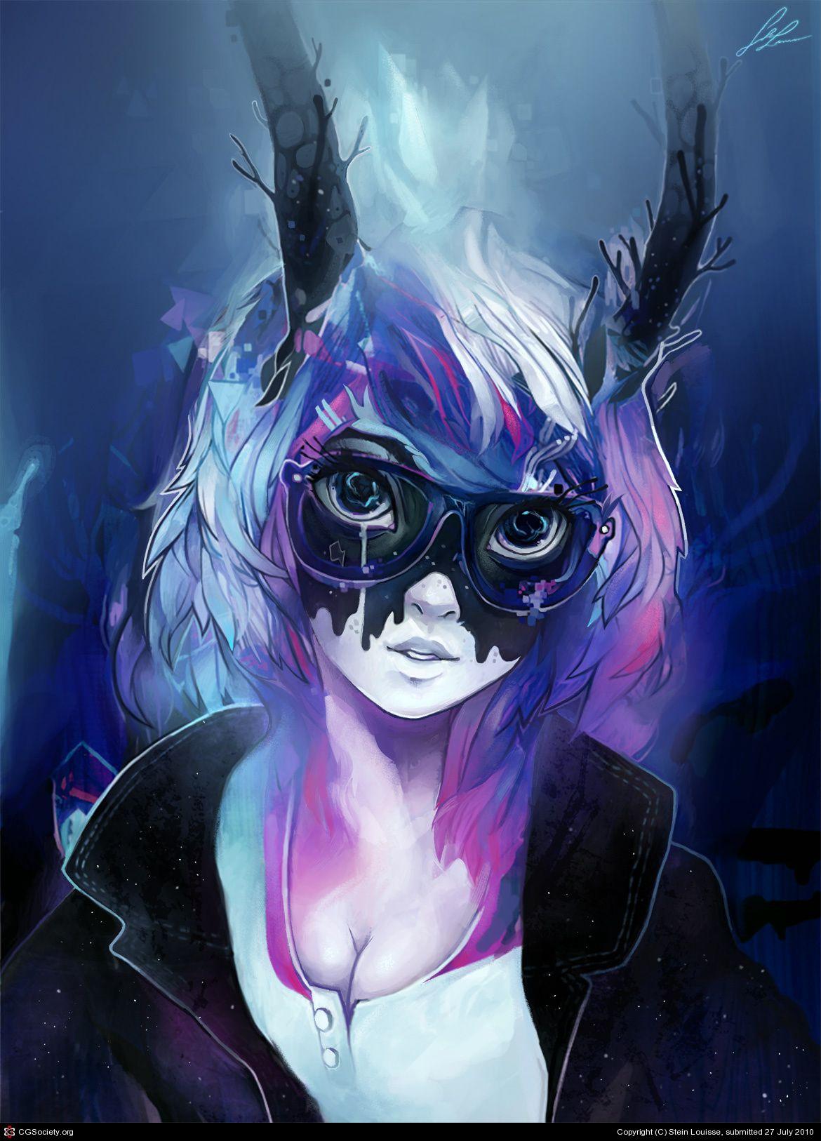 Cool colour, cool girl. Anime, Anime artwork