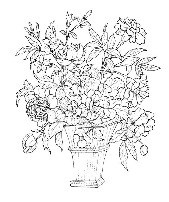 Mazzo Di Fiori Van Gogh.Mazzo Di Fiori Disegno Cerca Con Google Disegni Da Colorare