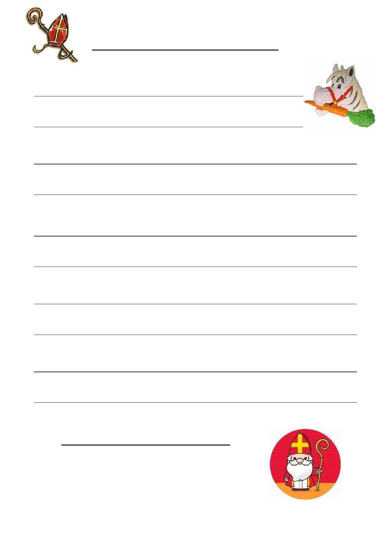 Briefpapier Sint Leuk Om Met De Kinderen Een Brief Te