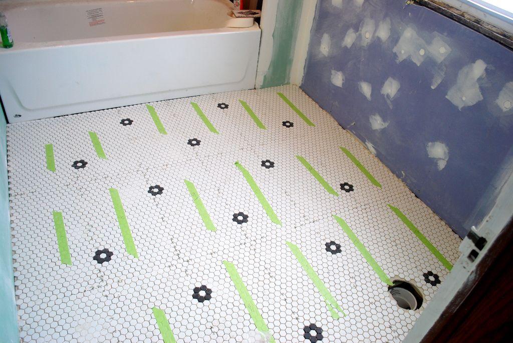 How Beginner Guide Installing Hex Tile Hexagon Bathroom Floor