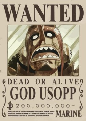 'one piece wanted' Metal Poster Print - WallArt | Displate