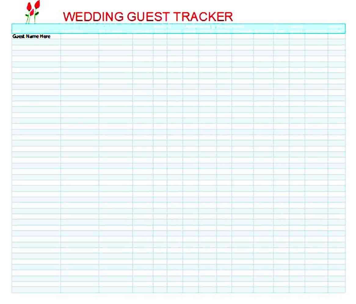 Wedding Guest List Template Wedding Guest List Template Guest List Template Wedding Guest List Wedding guest list excel template