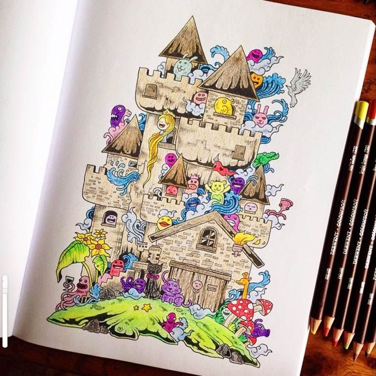 Doodle Invasion Coloring Book 17