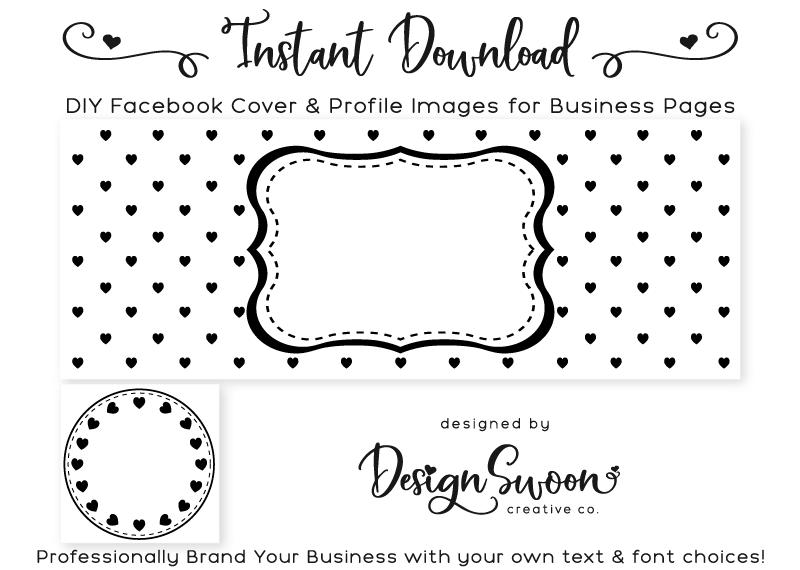 Black Hearts DIY Facebook Cover & Profile Image | DIY