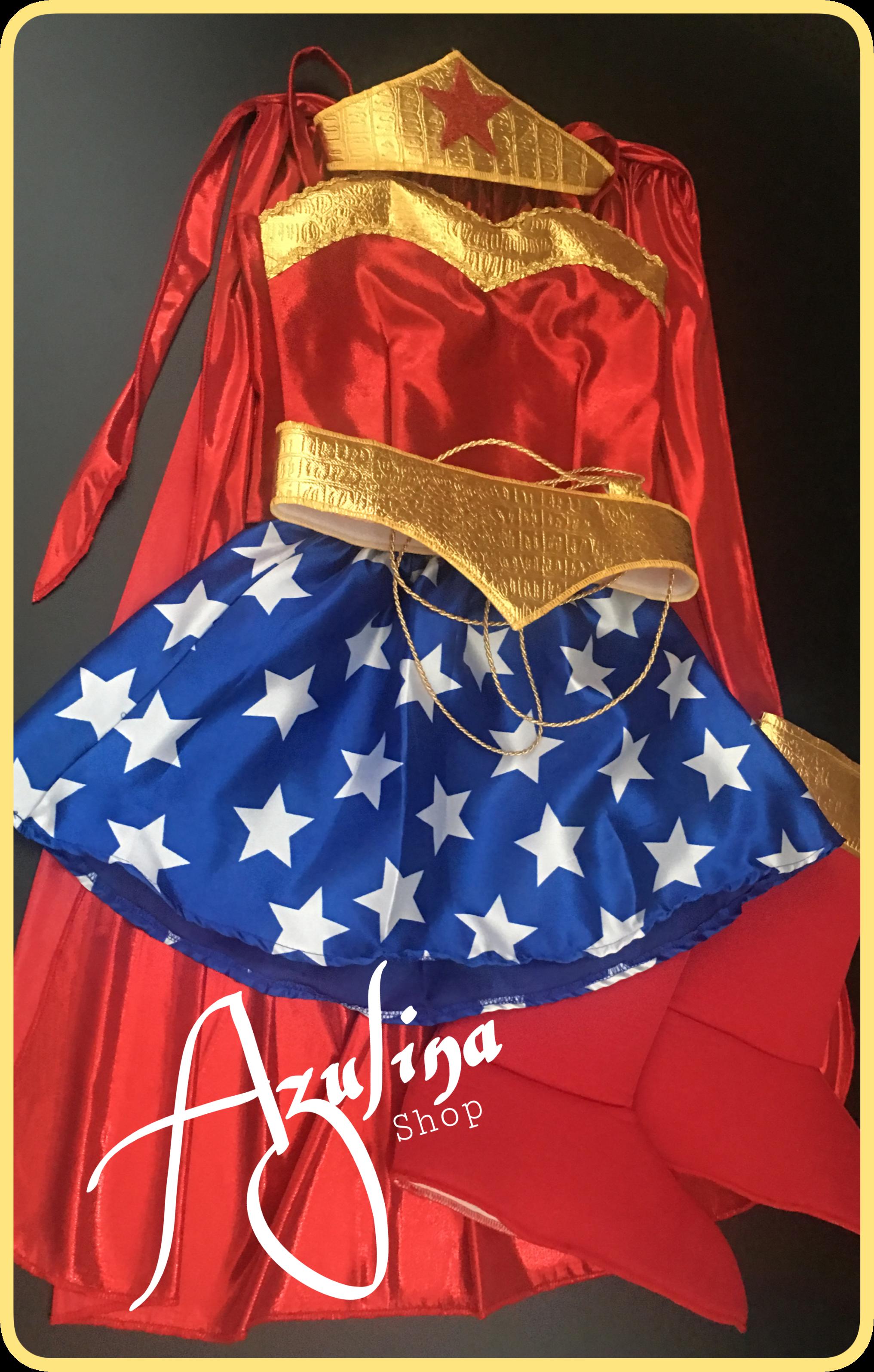 Disfraz Tipo Mujer Maravilla Niña Superheroes Supergirl