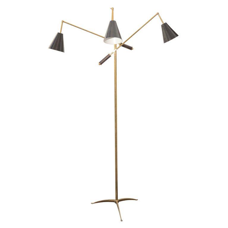 Italian Multi Arms Floor Lamp By Stilnovo Arm Floor Lamp Floor