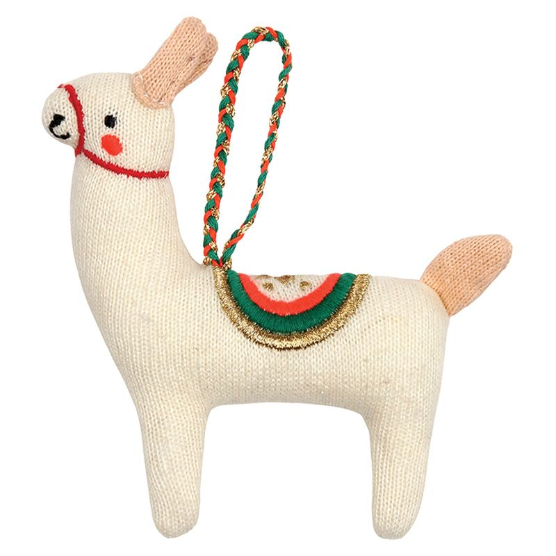 Llama Knitted Decoration Gestrickter Weihnachtsschmuck Baumschmuck