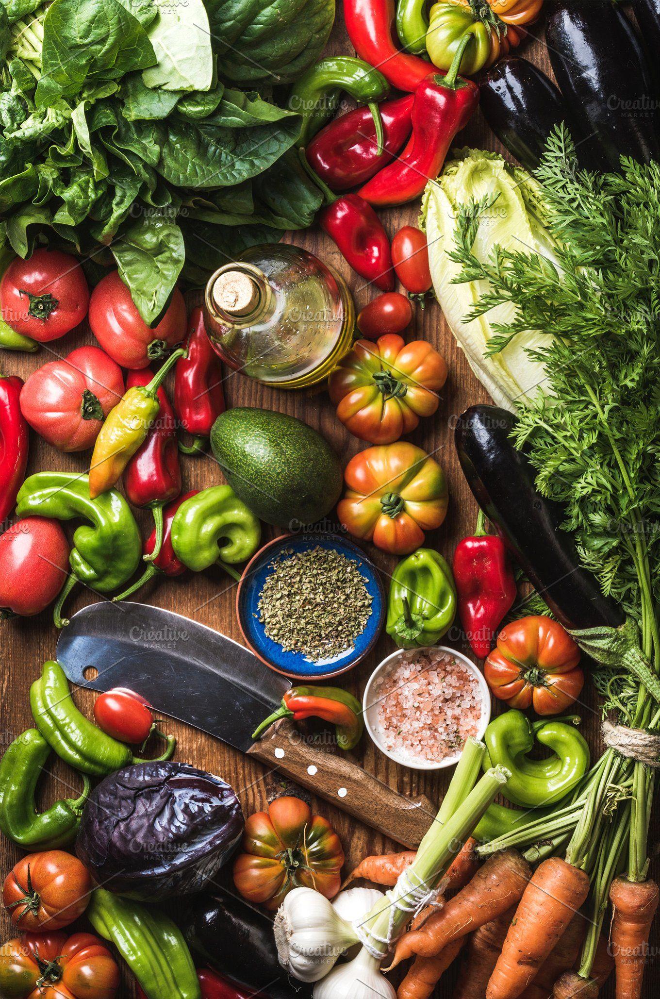 Dinner cooking ingredints in 2020 | Raw vegetables, Fruits ...