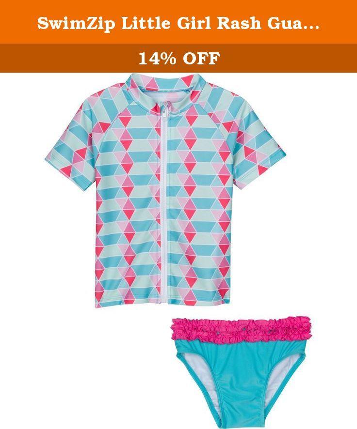 9090021d7bae7 SwimZip Little Girl Rash Guard Swimwear Set UPF 50+