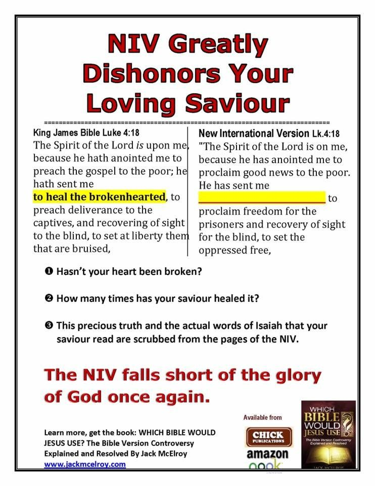 Other Bibles Omit What Kjv Has Retained When The Bible Was