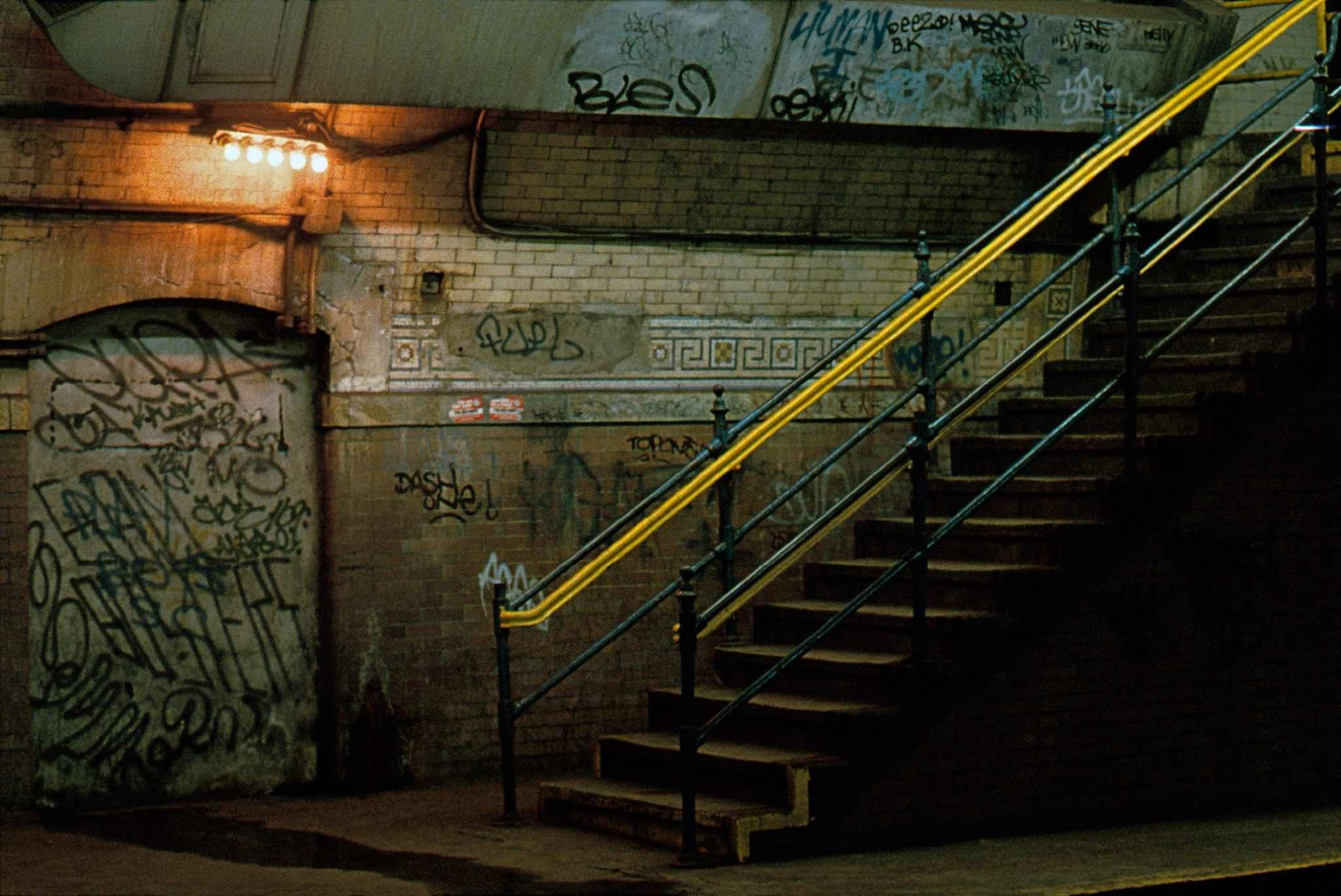 1983, New York, subway station, uptown