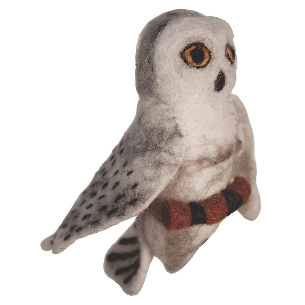 felt bird garden ornament snowy owl wild woolies g products