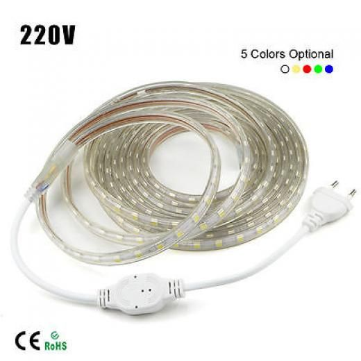 new style bb3c3 bd984 1m-10m Waterproof Smd 5050 Led Strip 220v 230v 60leds/m ...