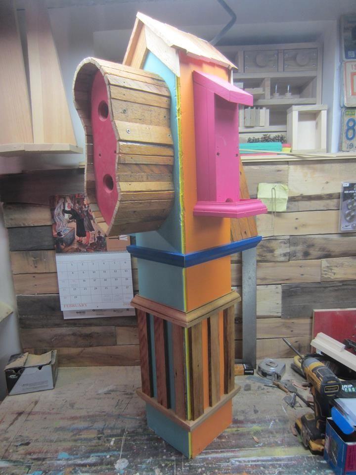 Creative Pallet Bird Houses
