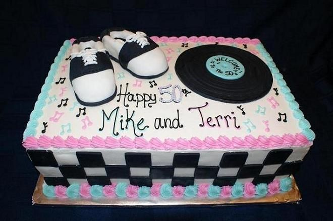 Welcome To The 50s Birthday Cake