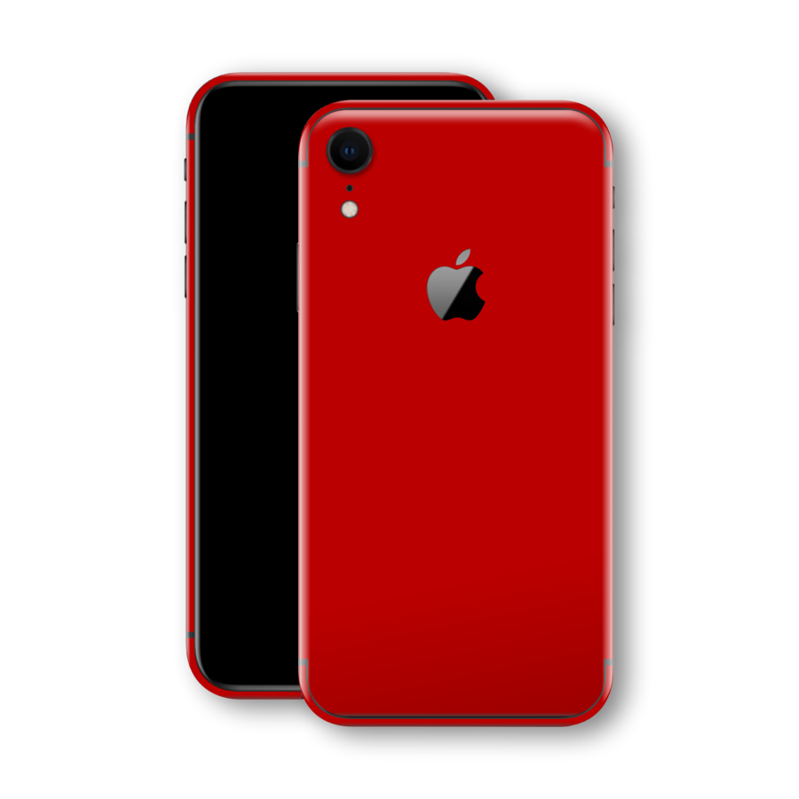 Iphone Xr Glossy Deep Red Skin Iphone Deep Red Red Skin