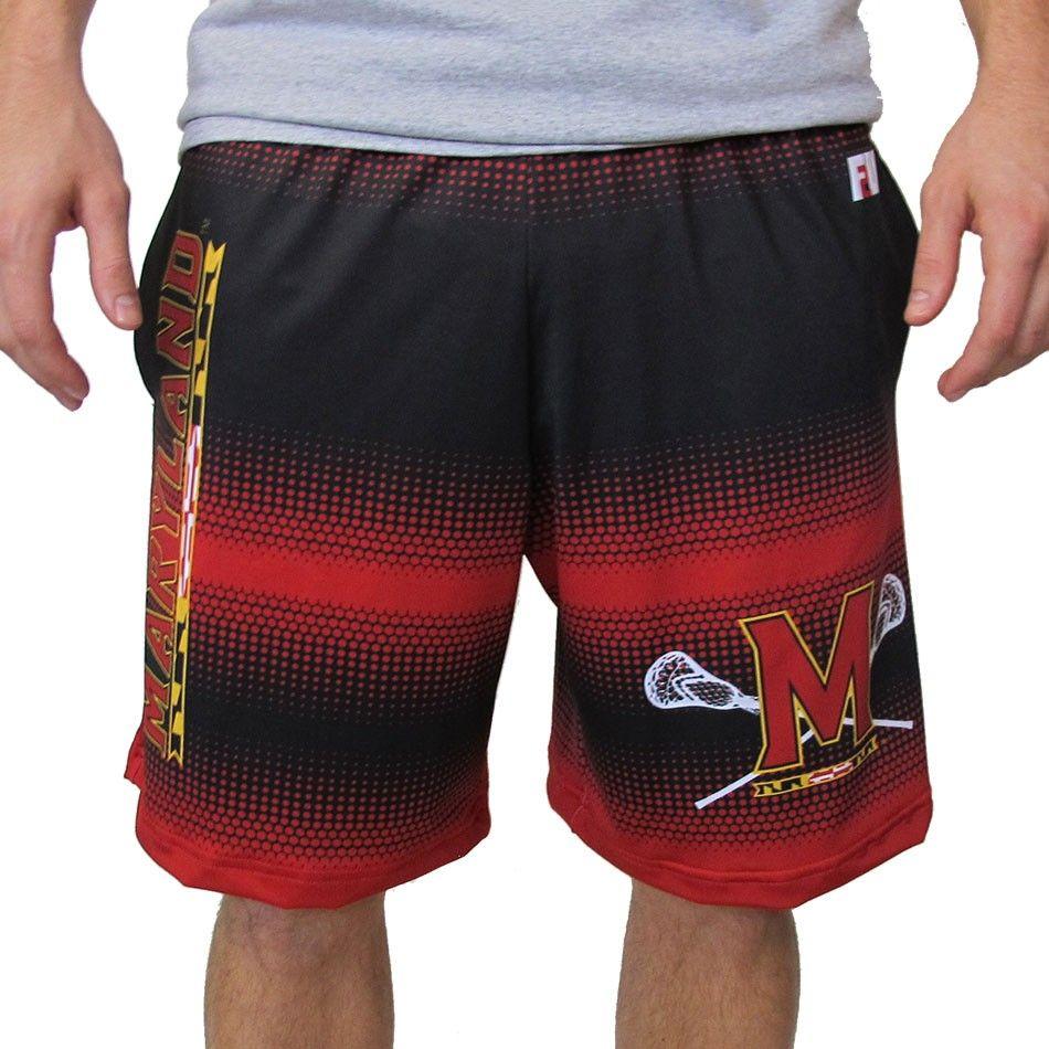 606e416b6fa7b #LacrosseUnlimited Maryland Hypnotic Lacrosse Shorts #GoTerps Lacrosse, Gym  Men, Maryland, Swim