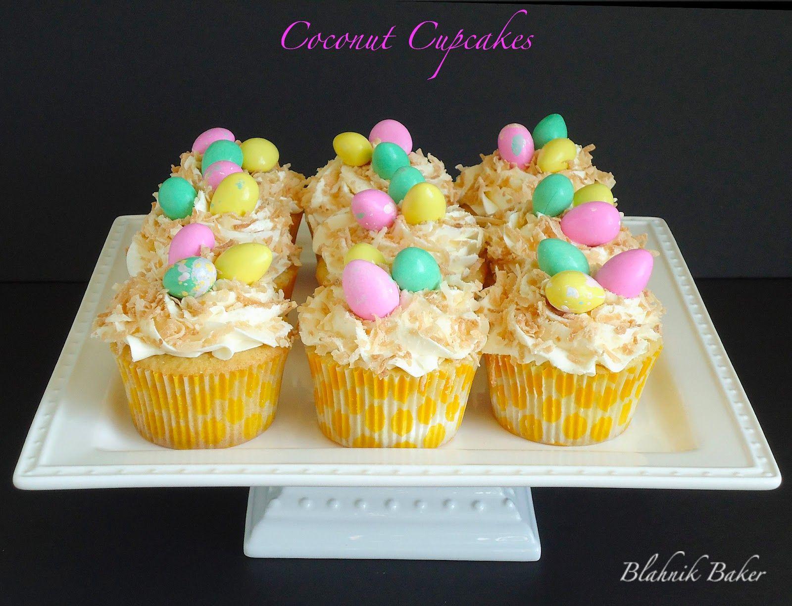 Blahnik Baker: Coconut Cupcakes {Bird Nest Cupcakes}