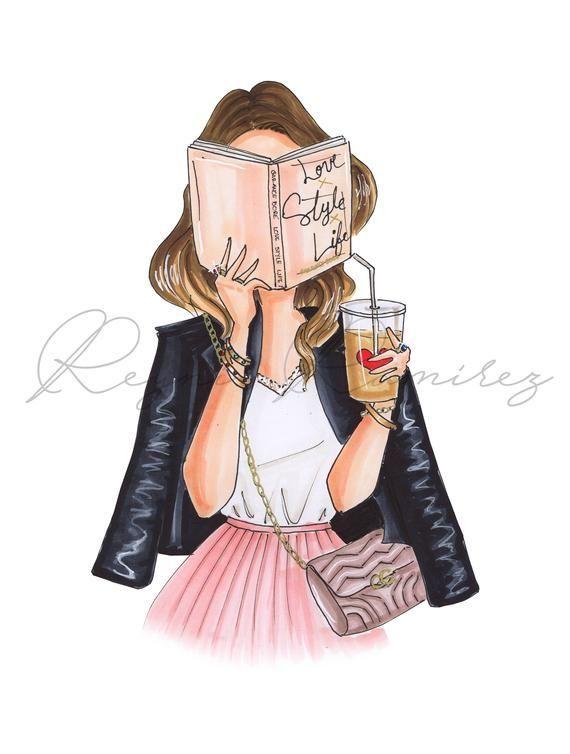 Photo of Fashion illustration, fashion illustration print, office illustration, fashion wall art, fashion poster, girly wall art, girl illustration