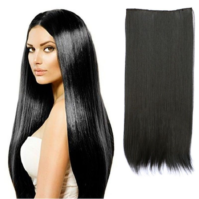 27inch 130g fashion hairstyle straight clip in false hair pad 27inch 130g fashion hairstyle straight clip in false hair pad synthetic hair styling 5 clip in pmusecretfo Images