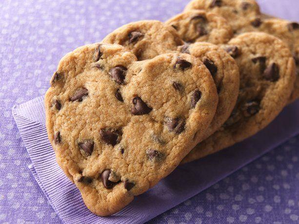 Chocolate Chip Heart Cookies