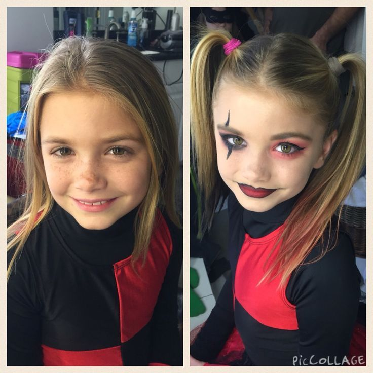 Makeup Ideas makeup for little girls pics : Little girl Harley Quinn makeup Anastasia Beverly Hills liquid ...